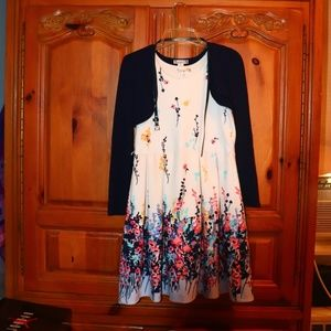 Girls' Knitworks Seeveless Dress w/ belt & shrug